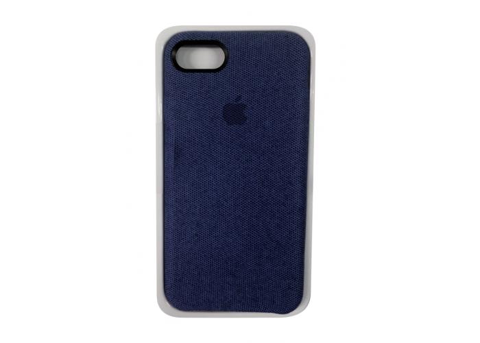 Тканевый чехол для iPhone 7/8 Hiha Canvas Pattern Case темно-синий