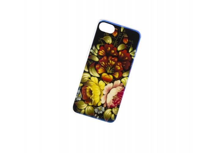 Чехол для iPhone 7/8 перламутр цветы