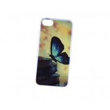 Чехол для iPhone 7/8 перламутр бабочка
