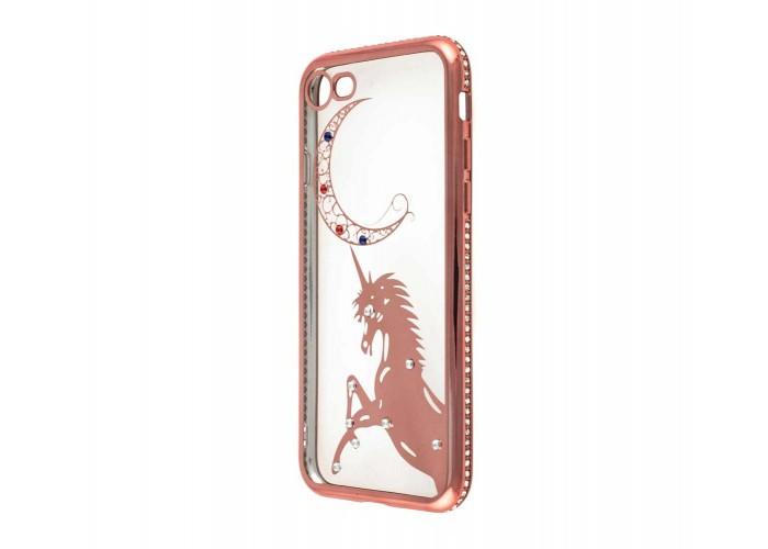 Чехол для iPhone 7/8 Kingxbar Diamond Единорог розовый