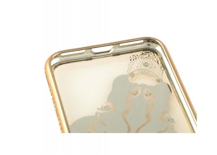 Чехол для iPhone 7/8 Kingxbar Diamond Жираф золотистый
