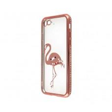Чехол для iPhone 7/8 Kingxbar Diamond Фламинго розовый