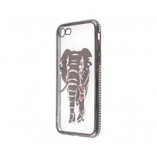Чехол для iPhone 7/8 Kingxbar Diamond Слон серый