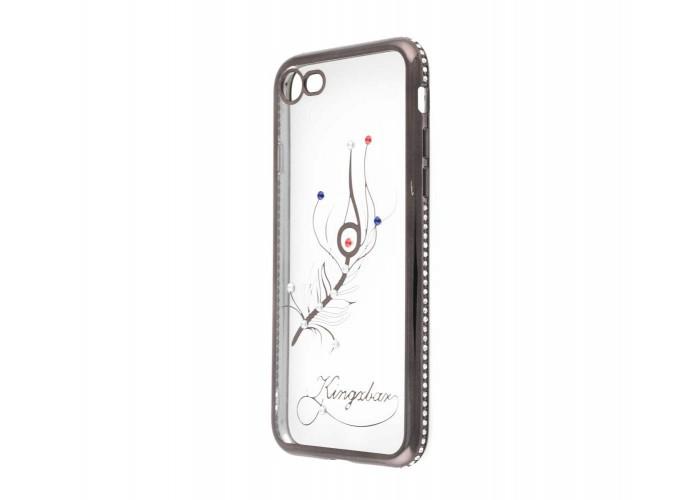 Чехол для iPhone 7/8 Kingxbar Diamond Перо серый