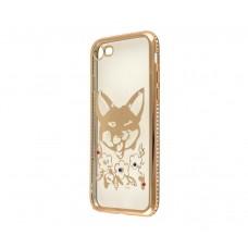 Чехол для iPhone 7/8 Kingxbar Diamond Лиса золотистый