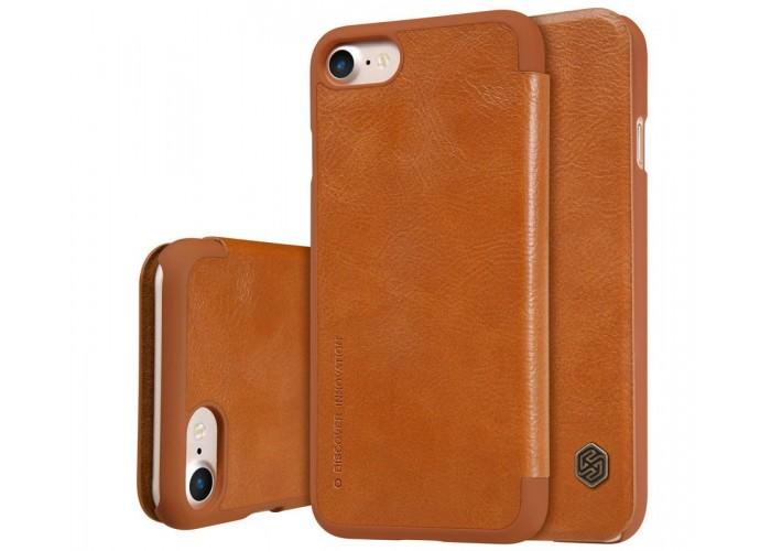 Чехол-книжка для iPhone 7/8 Nillkin Qin коричневый