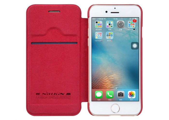 Чехол-книжка для iPhone 7/8 Nillkin Qin красный