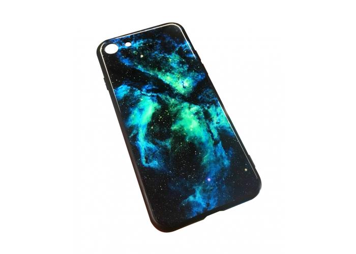Чехол для iPhone 7/8 Glossy Galaxy синий