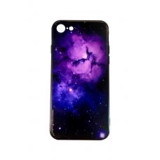 Чехол для iPhone 7/8 Glossy Galaxy фиолетовый