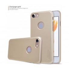 Чехол для iPhone 7/8 Nillkin Matte (пленка в подарок) золотой