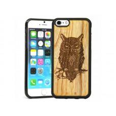 "Чехол для iPhone WoodBox из натурального дерева ""Сова"""