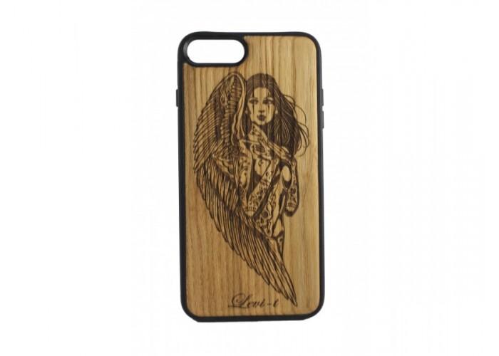 """Чехол для iPhone WoodBox из натурального дерева """"Angel Of Death"""""""