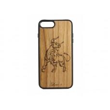 """Чехол для iPhone WoodBox из натурального дерева """"Благородный Телец"""""""