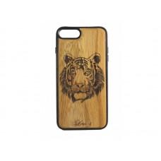 """Чехол для iPhone WoodBox из натурального дерева """"Взгляд Хищника"""""""