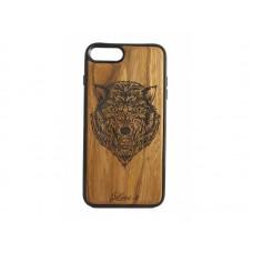 """Чехол для iPhone WoodBox из натурального дерева """"Оскал"""""""