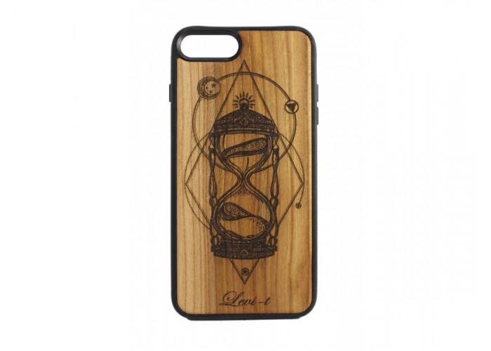 """Чехол для iPhone WoodBox из натурального дерева """"Время Мира"""""""
