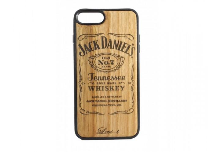 "Чехол для iPhone WoodBox из натурального дерева ""Клуб Любителей Jack Daniels"""