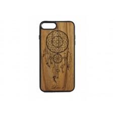 """Чехол для iPhone WoodBox из натурального дерева """"Ключи Спокойных Сновидений"""""""