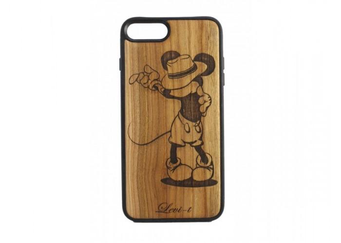 "Чехол для iPhone WoodBox из натурального дерева ""Микки Маус"""