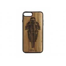 "Чехол для iPhone WoodBox из натурального дерева ""Мотоциклист"""