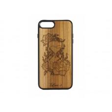 """Чехол для iPhone WoodBox из натурального дерева """"Песочные Часы"""""""