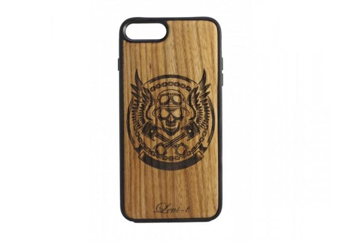 """Чехол для iPhone WoodBox из натурального дерева """"Поршни Скорости"""""""