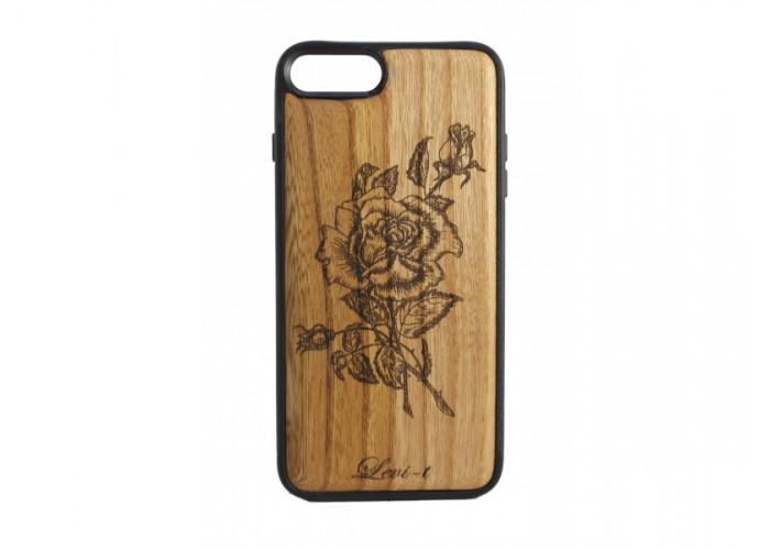 "Чехол для iPhone WoodBox из натурального дерева ""Роза"""