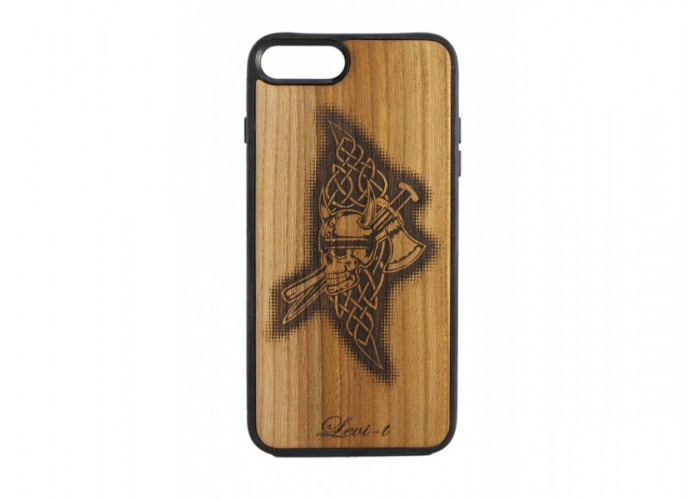 "Чехол для iPhone WoodBox из натурального дерева ""Скандинавский Оберег"""