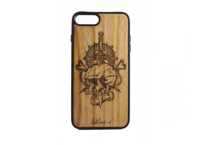 """Чехол для iPhone WoodBox из натурального дерева """"Смертельная Сталь"""""""