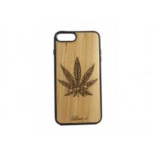 """Чехол для iPhone WoodBox из натурального дерева """"Трава Мира"""""""