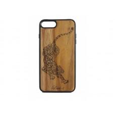 """Чехол для iPhone WoodBox из натурального дерева """"Хищник На Охоте"""""""