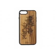 """Чехол для iPhone WoodBox из натурального дерева """"Цветочная Лоза"""""""