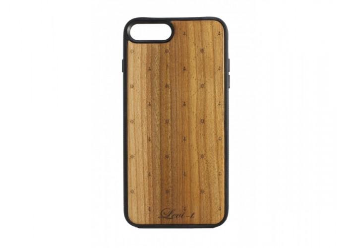 "Чехол для iPhone WoodBox из натурального дерева ""Якоря"""