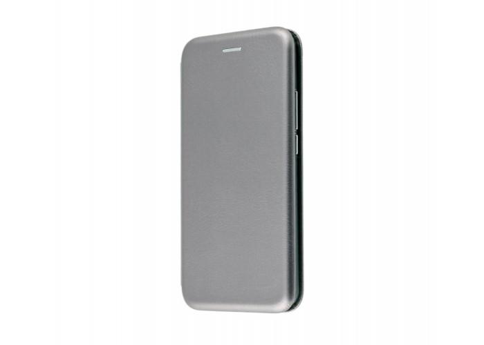 Чехол-книжка для iPhone X/Xs Premium серый