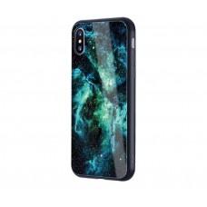 Чехол для iPhone X Glossy Galaxy синий