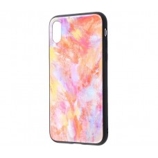 Чехол для iPhone X White Knight Pictures Glass мрамор (16)