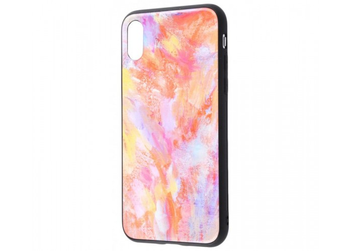Чехол для iPhone X / Xs White Knight Pictures Glass мрамор (16)