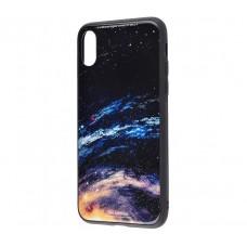 Чехол для iPhone X / Xs White Knight Pictures Glass галактика