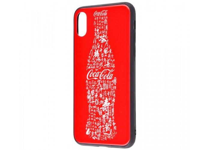 Чехол для iPhone X White Knight Pictures Glass кока-кола