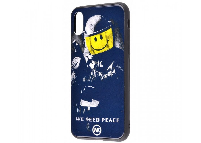 Чехол для iPhone X / Xs White Knight Pictures Glass We Need Peace