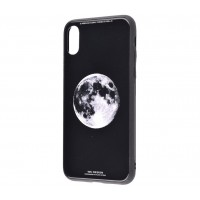 Чехол для iPhone X White Knight Pictures Glass full moon