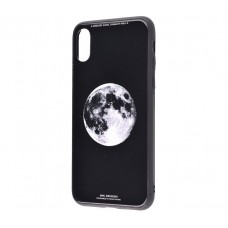 Чехол для iPhone X / Xs White Knight Pictures Glass full moon