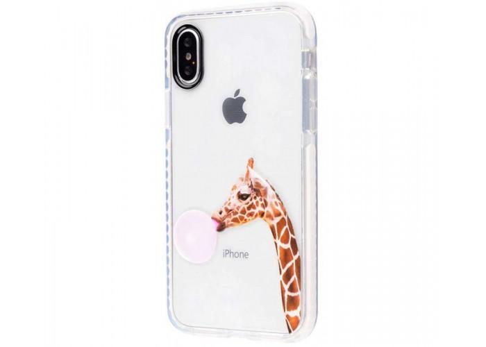 Чехол для iPhone X жираф