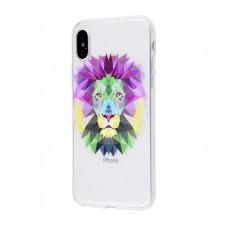 Чехол для iPhone X лев