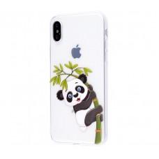 Чехол для iPhone X панда