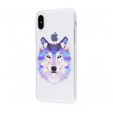 Чехол для iPhone X волк