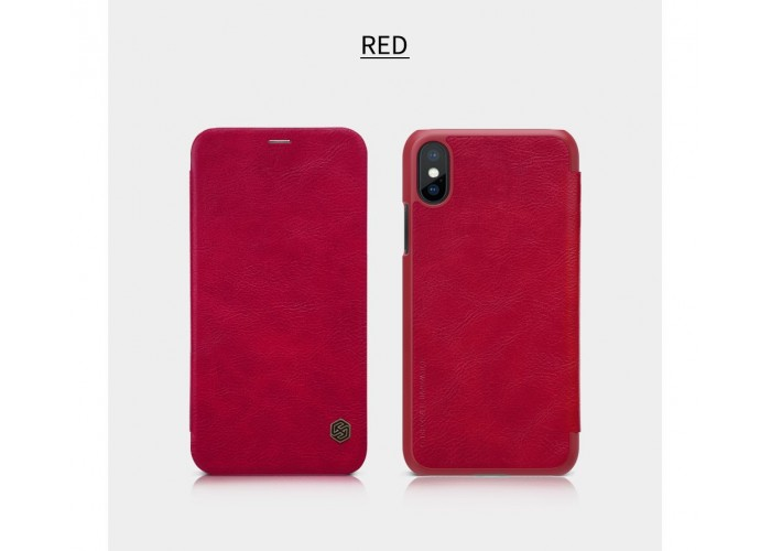 Чехол-книжка для iPhone X Nillkin Qin красный