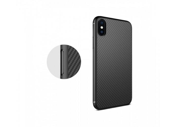Чехол для iPhone X Nillkin Synthetiс Fiber черный