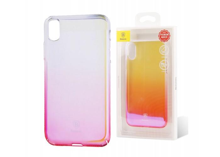 Чехол для iPhone X Baseus Glaze светло-розовый