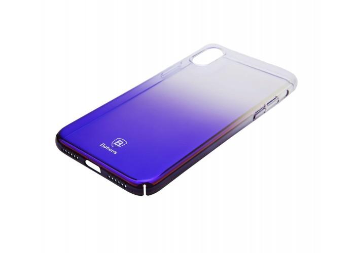 Чехол для iPhone X Baseus Glaze синий